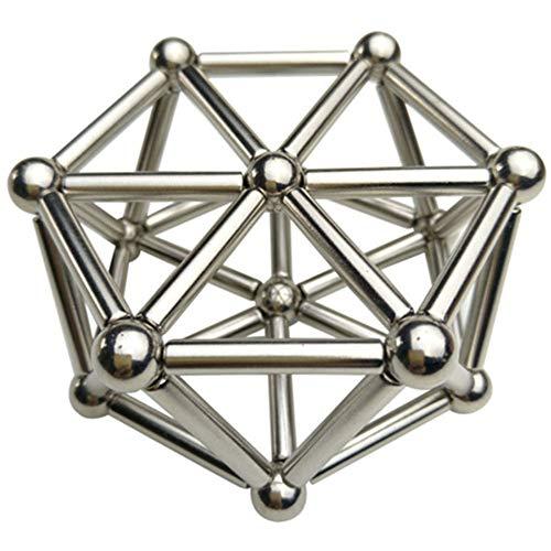 Qutuo 36 Stück magnetische Stäbe 27 Stück Stahlkugeln Spielzeug Buckyballs Metall Sticks magnetisch Konstruktor Spielzeug ideal für Erwachsene und Kinder