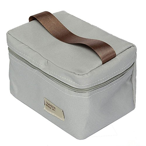 Demarkt–Lunch–Bolsa Almuerzo Bolso Picnic aislado Picnic gris 18x 12x 11,5cm