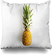 Ahawoso Throw Pillow Cover Decorative Square 18x18 Green Tropical Ananas Top View Pineapple Food Drink Yellow Philippines Aerial Appetizing Big China Zippered Pillowcase Home Decor Cushion Case