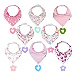 Baby Bandana Drool Teething Bibs for Girl - Super Absorbent Organic Cotton Bibs...