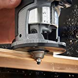VonHaus Oberfräse - 710W - 3 Spannzangen: ¼ Zoll, 6 mm, 8mm - Mit Trimmer für Holz- und Laminatböden - 3