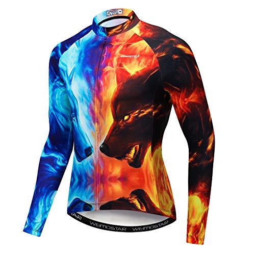 weimostar Herfst fietsshirt met lange mouwen Mannen MTB Jerseys Ademende Fiets Kleding Riding Sportwear Snel Droog