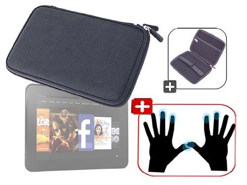 """DURAGADGET Housse étui résistant en EVA Rigide Noir + Paire de Gants capacitifs Taille S (Petit) pour Nouvelle Tablette Kindle Fire 7"""" d'Amazon – Gara"""