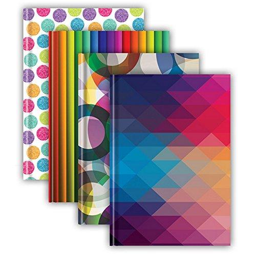 Tiger Stationery - Quaderni con copertina rigida da 72 fogli (confezione da 5) (A4) (Assortiti)