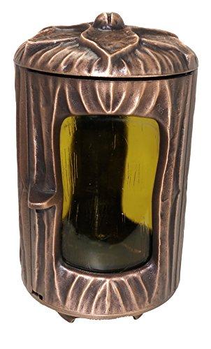 Grablampe. Grabvase oder Grabschale aus Bronze (Grablampe)