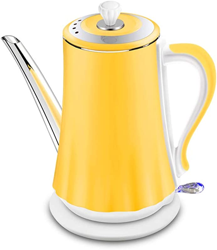 Electric Kettle Automatic Power Off Large Capacity 1500W Anti Scalding Insulation Integrated Stainless Steel 1 4L Yellow