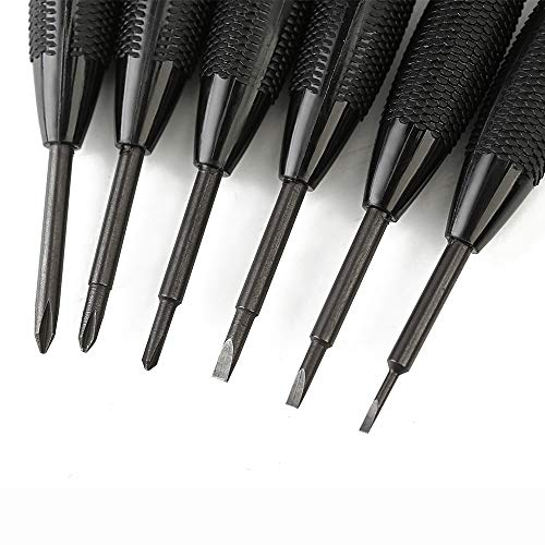 Mini Precision Screwdriver Set - 6Pcs Upgrade Small Phillips and Flat Head Screw Driver with Different Size, Eyeglass Repair Kit for Sunglass, Toy, Remote, Tiny Screws Around The House
