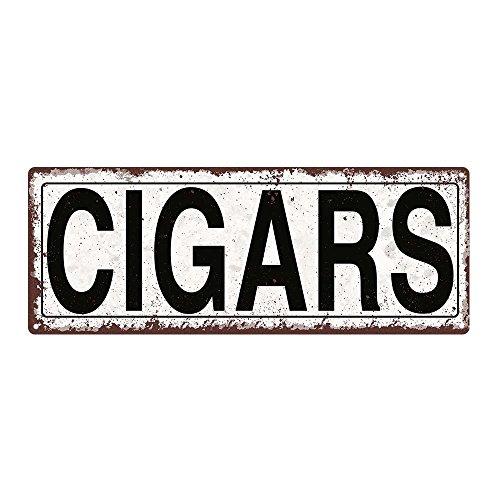 Cigars Metal Street Sign, Rustic, Vintage