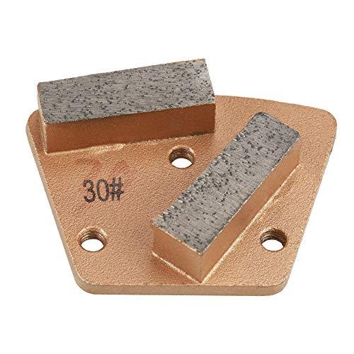 Diamantslijper, trapeziumvormige diamant van hoogwaardig diamantmateriaal, trapeziumvormige diamant, slijpsteen voor slijpkorrel 30 (3 gaten, 2 rechte tanden) voor alle betonslijpmachines