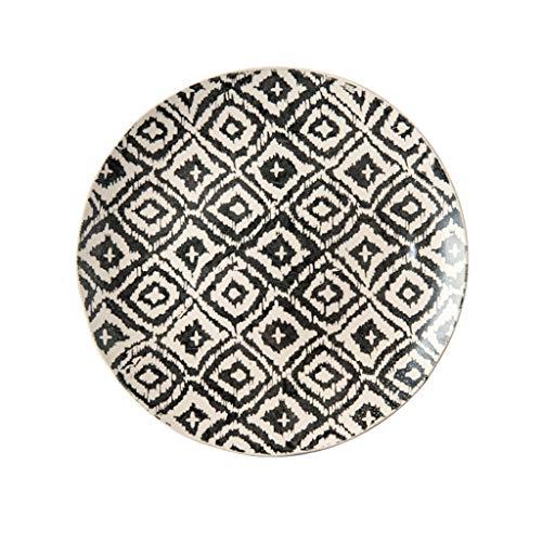 TXC- Keramisch tafelgerei plaat schotel plaat Startpagina Creative Net Rode fruitschaal Westelijk Voedsel Plate Dumpling Plate Duurzaam (Color : A, Size : 27cm*27cm)