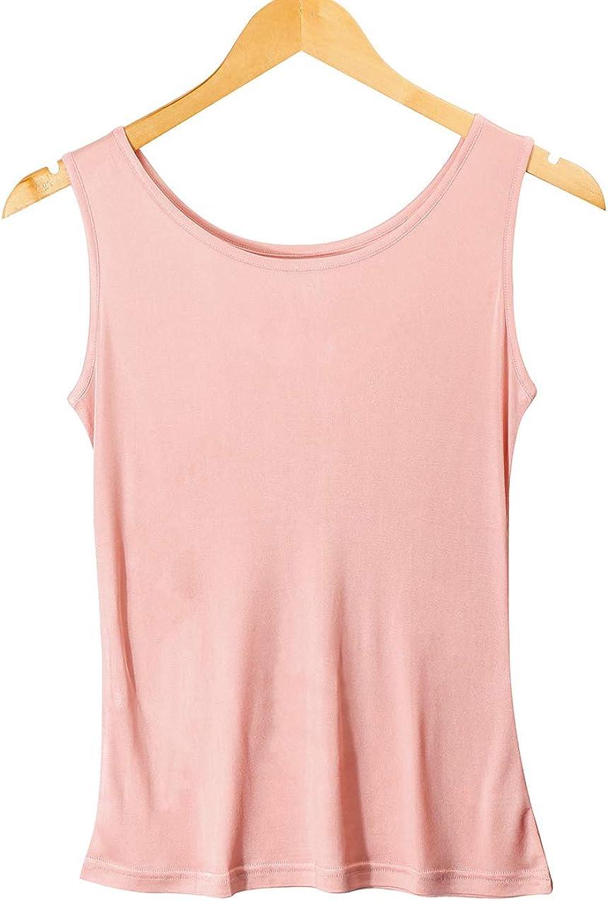 Women's 100% Pure Mulberry Silk Tank Top Women Silk Vest Camisoles