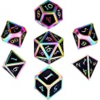 Purple DierCosy 7 PCS Multi Sided Dice D4-D20 Dices Set Acrylic Mini Dices for TRPG Games Dungeons and Dragon