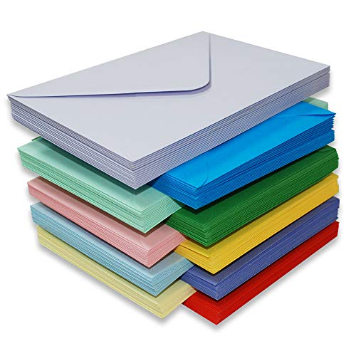 Craft 2281 Briefumschläge C5 in verschiedenen Farben, 150 Stück