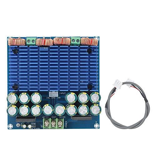 Fafeicy Tarjeta amplificador de potencia digital, HIFi Tablero amplificador, TDA8954 420W + 420W 2.0 Tablero amplificador Clase D con estuche