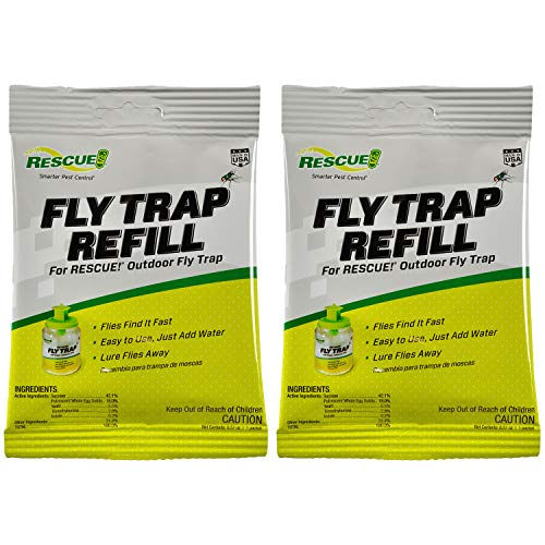 RESCUE! Outdoor Non-Toxic Reusable Fly Trap Attractant Refill - 2 Pack