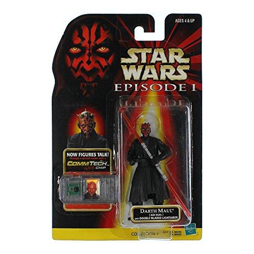 Star Wars - DARTH MAUL (Jedi Duel) With Double-Bladed Lightsaber / mit Lichtschwert - Episode I - mit COMMTECH CHIP - Hasbro