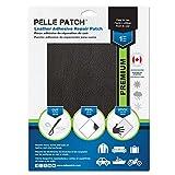Pelle Patch - Parche Adhesivo de reparación para Cuero y Vinilo - Disponible en 25 Colores - Premium 20cm x 28cm - Negro