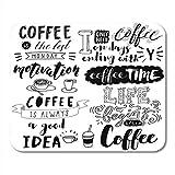 Mauspads, Bar Board Hand gezeichnete Beschriftung Kaffee Sätze Food Break Langlebige Mausmatte für Klasse Schreibtisch Schreibblock,18x22cm