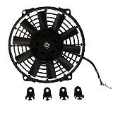 IPOTCH Disipación de Calor del Ventilador de Enfriamiento del Radiador de La Motocicleta del Coche 80w - 9 Pulgadas