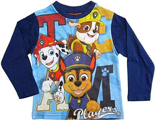 PAW PATROL Kollektion 2018 Langarmshirt 92 98 104 110 116 122 128 Shirt Jungen Neu Top Blau (Blau/Dunkelblau, 116)