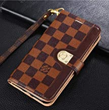 Galaxy S8 Case, Classic Monogram PU Leather Wallet Case with Card Slots Magnet Clasp for Galaxy S8