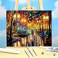 公園の雨のさび DIY.Kit Acrylic Paints 40 *子供のためのキャンバス絵画の絵画 (Color : 36 colors 40x50cm)