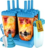 Popsicle Molds Set - BPA Free - 6 Ice Pop Makers + 1 Extra Mold + Silicone Funnel + Cleaning Brush + Recipes...