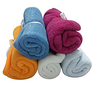 Charis Kid Best Baby Washcloths Cloth Wipes Napkins Handkerchief Set (5 Pack) 100% Terry Cotton Soft Comfort Bath Wash Cloths for Infant Newborn Babies - Double Layer Thickness & Absorbent (B00KA0AT24) | Amazon price tracker / tracking, Amazon price history charts, Amazon price watches, Amazon price drop alerts