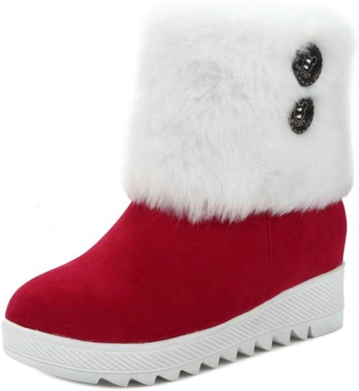 CarziCuzin Women Boots Slip-on Low Hidden Heel