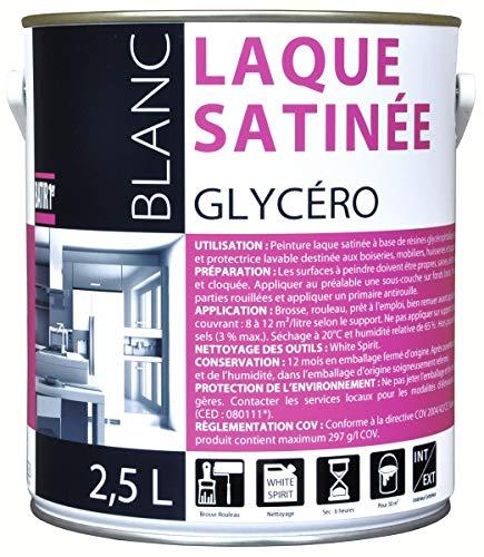 Peinture laque glycéro Batir 1er - Boîte 2,5 l - Blanc