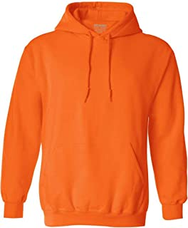 Joe's USA Hoodies Soft & Cozy Hooded Sweatshirt,Large Orange