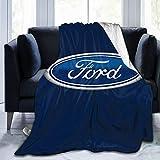Autoreuse Ford Blanket Ultra Soft Micro Fleece Blanket for Bedroom Sofa Comfortable 60'X50'
