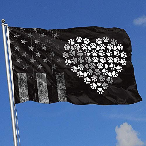 Elaine-Shop Outdoor Flags USA Flagge Herz Pfote 4 * 6 Ft Flagge für Wohnkultur Sport Fan Fußball Basketball Baseball Hockey