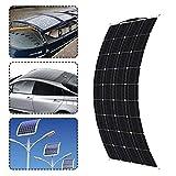 HUAJIN La célula del Panel Solar 300W 18V Semi-Flexible monocristalino Solar DIY Cable Conector del módulo de Cargador de batería al Aire Libre a Prueba de Agua