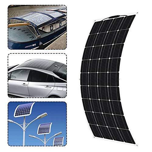 HUAJIN 18V Solar Panel 300W Semi-Flexible Monocrystalline Solar Cell DIY Module Cable Outdoor Connector Battery Charger Waterproof