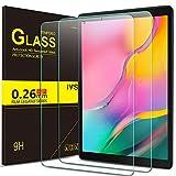 IVSO Bildschirmschutz für Samsung Galaxy Tab A 10.1 2019 T515/T510, 9H Festigkeit, 2.5D, Bildschirmfolie Schutzglas Bildschirmschutz Für Samsung Galaxy Tab A 2019 T515/T510 10.1 Zoll, (2 x)
