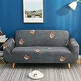 Funda de sofá de spandex elástica, envuelta herméticamente, todo incluido, funda de sofá para sala de estar, funda de sofá modular, funda de sofá de dos plazas, sofá de dos plazas D5 145-185cm-1pc
