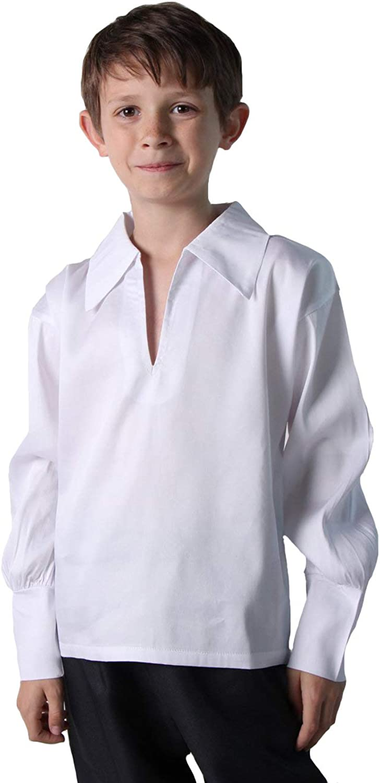 Boys Basic Renaissance Shirt (Choose Color and Size)