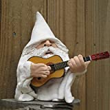 Smoking Wizard Big Tongue Gnome Naughty Garden Gnome Statue,Collectible Figurine Naughty Garden Gnome for Lawn Ornaments Indoor or Outdoor Decorations (Guitar Models)