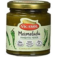 Vicasol Mermelada de Pimiento Verde - Paquete de 12 x 250 gr - Total: 3000 gr