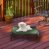 """Petmaker Elevated Pet Bed-Portable Raised Cot-Style Bed W/Non-Slip Feet, 24.5""""x 18.5""""x 7"""" for Dogs, Cats, or Small Pets-Indoor/Outdoor Use (Green)"""