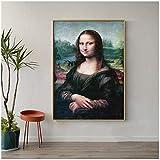 HHLSS Poster Bild 40x50cm ohne Rahmen Berühmte Mona Lisa