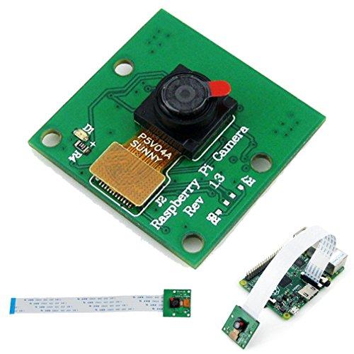 HiLetgo OV5647 5MP Raspberry Pi 3 カメラ OV5647 HDカメラモジュール Raspberry Pi に対応 A/B+/2 モデルB ケーブル