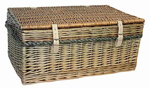 Red Hamper 62cm Antique Wash Picnic Basket