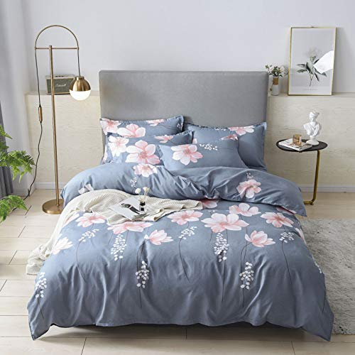 Small Fresh Style Feather Pattern Flat Sheet, Extra-Large Bedding With Elastic Corners, 4-Piece Set Of Machine-Washable Breathable Bed Sheet For All Seasons