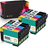 Remanufactured Ink Cartridge Replacement for Epson 252XL 252 XL T252 T252XL to use with Workforce WF-3640 WF-3620 WF-7110 WF-7710 WF-7720 Printer (4BK, 2C, 2M, 2Y) 10 Packs