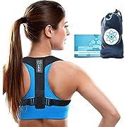 Sports Laboratory PRO+ Correttore di Postura Regolabile Supporto per Clavicole Uomo e Donna Borsa Gratuita (Regular 36-43inch)