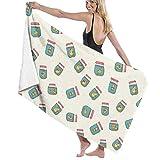 BJGXFMQ Serviette de Plage Microfibre Beige Extrêmement Absorbant Serviette de Bain, Rectangulaire Couverture de Plage Tapisserie Yoga Tapis de Pique-Nique Beach Serviette de 130 x 80 cm