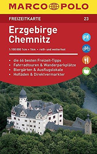 MARCO POLO Freizeitkarte Erzgebirge, Chemnitz 1:100 000