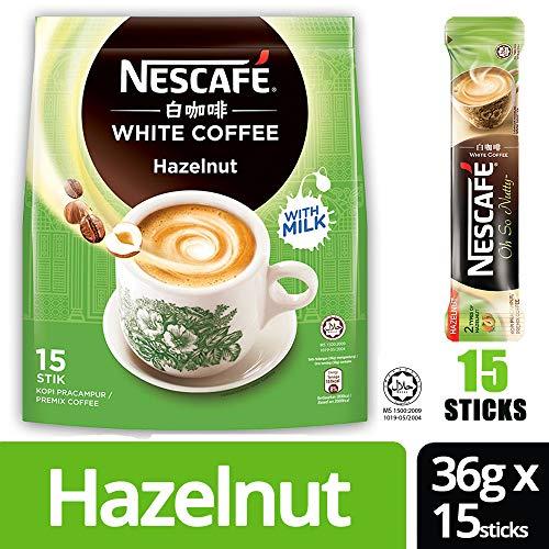 Nestle Malaysia 3 In 1 Nescafe White Coffee Hazelnut Flavour Premix Instant Coffee Rich Aroma Halal...